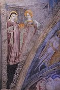 St. Agatha-Fresko im Kreuzgang Brixen