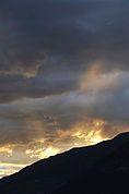 Der Abendhimmel über dem mittleren Vinschgau